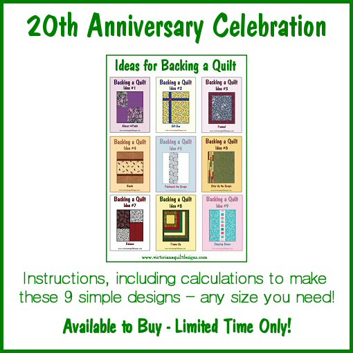 Backing Quilt Ideas Anniversary Special