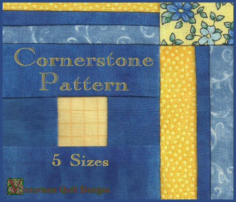 Cornerstones Matching Border Free Quilt Pattern