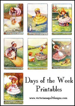 Days of the Week Nursery Rhyme Printables