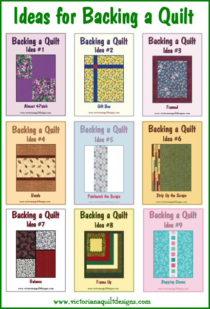 Ideas for Backing a Quilt Collection