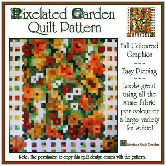 Pixelated Garden Quilt Pattern