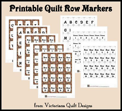 Printable Quilt Row Markers
