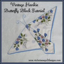Vintage Hankie Butterfly Block Tutorial