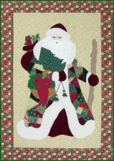 Crazy Quilt Father Christmas