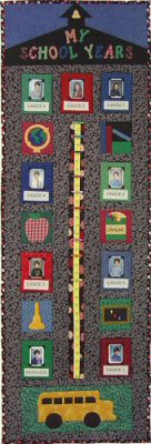 My School Years Growth Chart Keepsake Quilt