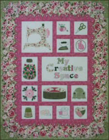 Rose Cottage Sewing Room Quilt Pattern