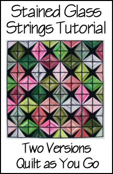 Stained Glass Strings Quilt as You Go Tutorial