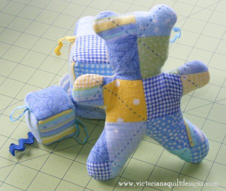 Patchwork Baby Teddy Bear