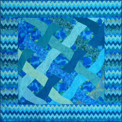 Ocean Waves Paper Pieced Quilt Pattern From Victoriana Quilt Designs