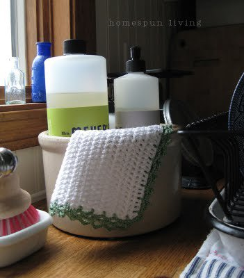 crocheted dishcloth - ~ Bev's Country Cottage ~