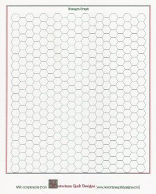 Quilt Patterns On Graph Paper : Hexagon Shape Template Printable