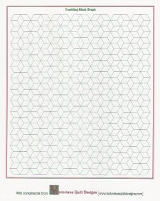 Victoriana quilt designs printable quilt graph papers for for Block graph template