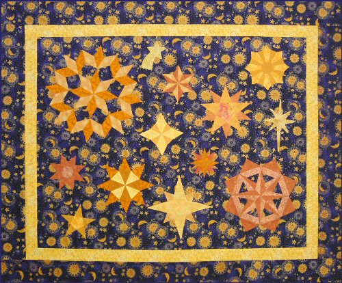 Celestial wonderings quilt pattern for Celestial pattern fabric