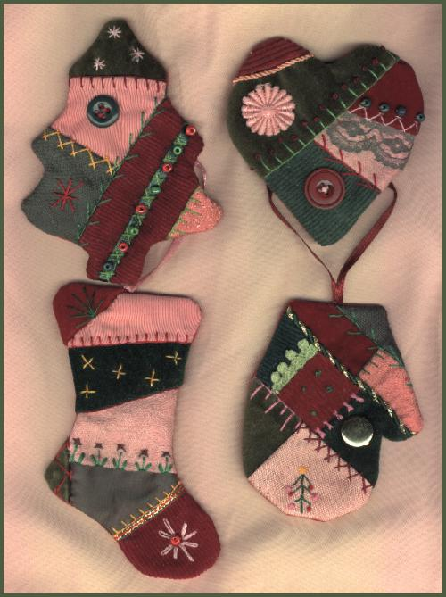 Crazy Quilt Ornaments