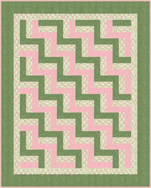 Easy Log Cabin Quilt Block Pattern - easy for beginner's project
