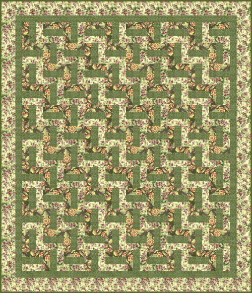 Free Quilt Pattern Easy Beginners Rail Fence