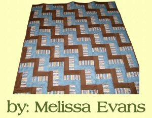 "Rail Fence Prayer Quilt Pattern 42"" x 54"""