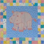 Hilda the Hippo Baby Quilt Pattern