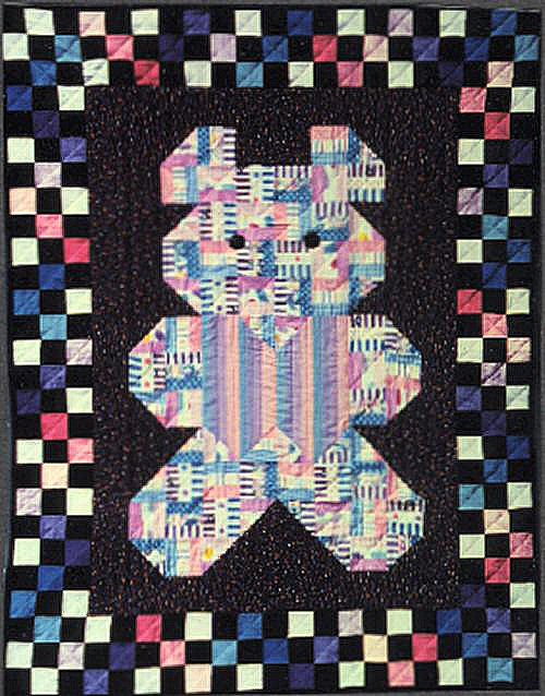 Patches Teddy Bear Baby Quilt Pattern