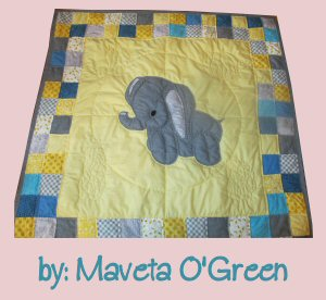stuffies ellie the elephant baby quilt
