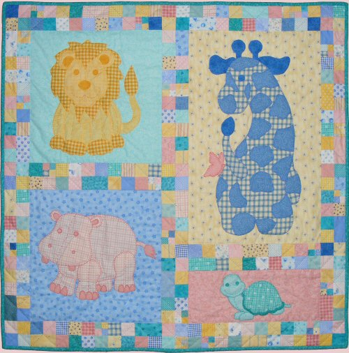 stuffies quilt layout with timmy the turtle baby quilt pattern