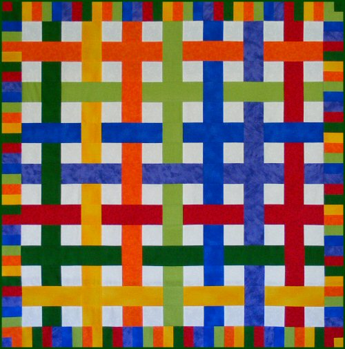 Woven Crayons Quilt Pattern
