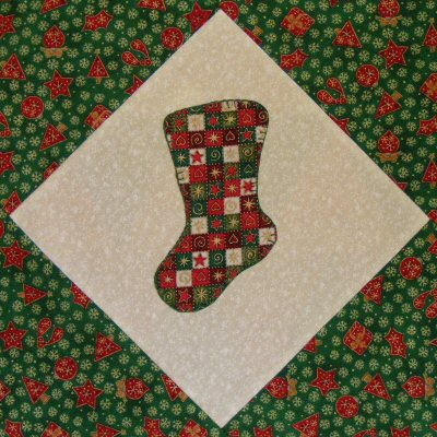 Christmas Stocking - The Quilter's Cache - Marcia Hohn's free