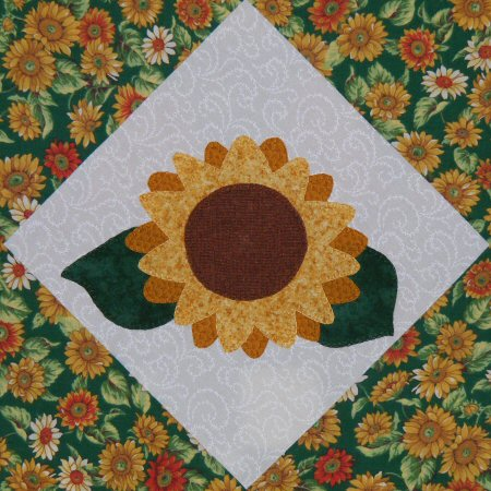 Victoriana Quilt Designs Sunflower Block In Quiltmaker S