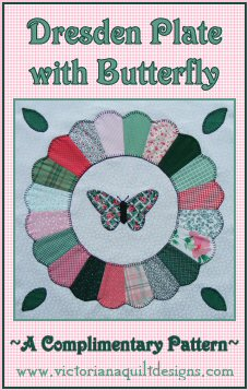 Dresden Plate with Butterfly Free Quilt Pattern