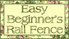 Free Quilt Pattern - Easy Beginner's Baby Rail Fence